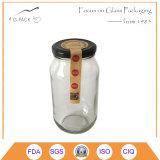 [500مل] زجاجيّة عسل زجاجة مع معدنة غطاء, علامة تجاريّة, علامة مميّزة يستطيع كنت طبعت