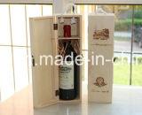 Neuer Entwurf kundenspezifischer hölzerner Wein-Kasten mit gebranntem Firmenzeichen