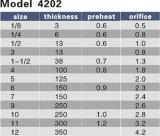 Конец отверстия 0.5-4.2 Esab Oxweld Purox модели 4202