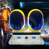 Mejor Inversión la experiencia de Realidad Virtual de lujo con 2 asientos huevo Infantil 9d de carreras de Vr Simulador de disparo de la máquina Arcade diversiones