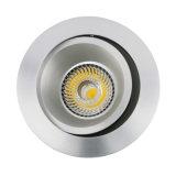 Het Aluminium van de draaibank GU10 MR16 om het Schuine stand In een nis gezette LEIDENE Licht van het Plafond (LT2204B)