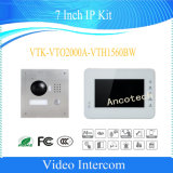 7-дюймовый Dahua Безопасность CCTV IP-видео комплект для внутренней связи (VTK-VTO2000A-VTH1560BW)