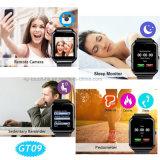 Grand écran IPS Bluetooth Smart montre téléphone portable avec le G-Capteur GT09