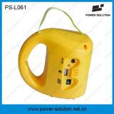 Фонарик портативного заряжателя мобильного телефона солнечный с батареей заряжателя 6V 4500mAh и двойной панелью 3.4W