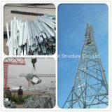 Tour de transmission en acier d'antenne de WiFi de la cornière 4 à jambes