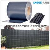 100%UV cerca del jardín de la pantalla de la tira del PVC de la resistencia Ral7016 630g el 19cm*35m