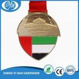 Покрынное золото металла резвится медаль с подгонянным логосом 3D