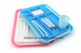 Instrumento dividida Dental autoclavables bandeja de plástico