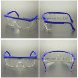 Vidros de segurança azuis da lente do PC do frame dos pés ajustáveis (SG100)