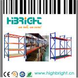 Sistema de armazenamento de prateleiras de longa distância de serviço pesado