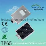 2017 Nouveaux produits solaire intégré Rue lumière LED 6W