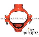 Iron étirable 300 PSIs Grooved Mechanical Cross avec FM/UL/Ce Certificates
