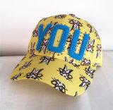 綿のあや織りによって合われる野球の刺繍の帽子の帽子の屈曲適合