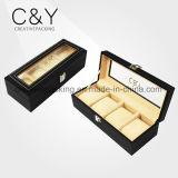 Regarder la boîte en bois noir personnalisé