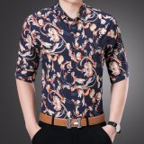 Hot Sale Button Down Polo Homme avec Fleur Imprimé