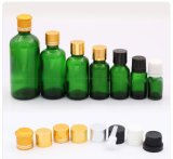 Fles van het Glas van de Essentiële Olie van de Capaciteit van Mult de Groene met Deksels (NBG04)