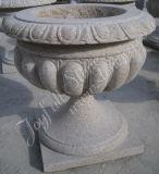 Gelber Granit-Blumen-Topf (Granit GP-001)