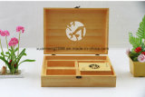 Handmade и изготовленный на заказ коробка древесины логоса