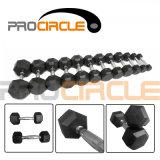 Procircle Спортзалом Crossfit фитнес-Обрезиненные утюг гантель с шестигранной головкой