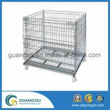 Faltbarer zusammenklappbarer Stahlmaschendraht-Speicher-Rahmen-Ladeplatten-Behälter