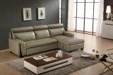 Sofá reclinável de tipo manual, sofá-cama de couro (953)