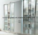El claro/heló/el vidrio Tempered grabado al agua fuerte/modelado del ácido de la ducha del cuarto de baño de los recintos de la puerta de la pantalla