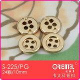 4 fori Small Plastic Gold Shirt Button con Rim (S-225PG)