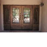 Дешевые цены из кованого железа желобок стекла передней двери