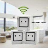 Control remoto salida inalámbrica WiFi inteligente Scoket interruptor eléctrico y de la toma para el iPhone Samsung Teléfono móvil con función de medidor de potencia