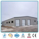Construction préfabriquée utilisée d'entrepôt de structure métallique de coût bas