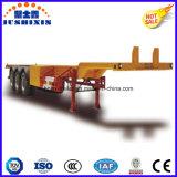 Acoplados esqueléticos/esqueléticos de la plataforma de 3 árboles del transporte de contenedores del carro