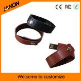 Deux couleurs Wristband Leather USB Flash Drives avec Gravure