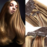 Human Hair ExtensionsのHair Extensions Piano Color ClipのまっすぐなHair Clip