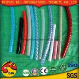 El alambre de acero plástico del PVC reforzó el manguito reforzado fibra del PVC del agua