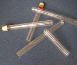 Tube à essai en verre transparent Scew avec capuchon en aluminium