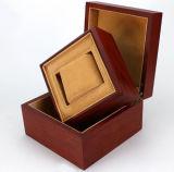 De vierkante Roze Doos van de Halsband van het Huwelijk met Hoofdkussen