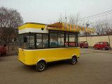 Электрический автомобиль доставки с обслуживанием еды