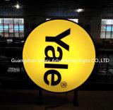 La publicidad exterior redonda y chupar vacío Squre Caja de luz LED
