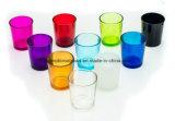 De gekleurde Votive Houder van de Kaars van het Glas,