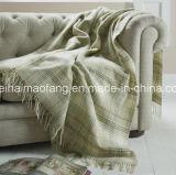 50%Merino Virgin Wool/50%Acrylic Blend Fringed Throw Blanket