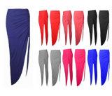 Womens Mesdames Ruched Split fente latérale de jupe Taille Maxi robe 8-14