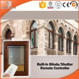 La fenêtre de vitre en bois de couverture en aluminium la plus populaire Les stores intégrés Obturateur intégré Tilt and Turn Window Afghan Client