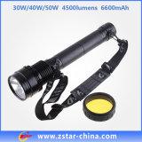 30/40/50W 6600mAh recarregável Luz HID Xenon (ZSHT0003)