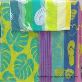 綿のベロアによって印刷されるビーチタオル