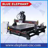 China-Druckluftanlage-Doppelt-Spindel 1530 4 Mittellinie CNC-Fräser-Maschine in Shandong mit Routary Einheit