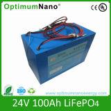 In het groot LiFePO4 Batterij 24V 100ah voor het Systeem van de ZonneMacht