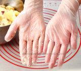 2017 горячих продавая перчаток винила порошка устранимых перчаток верхнего сегмента свободно для пищевой промышленности