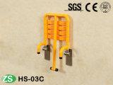 Verkaufender an der Wand befestigte ABS Nylondusche-Spitzensitz mit dem Stützbein