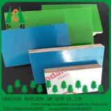 El verde azul blanco, plástico hizo frente a la madera contrachapada del uso de Construcion