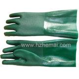 Dubbel van de kaphandschoen dompelde de Groene Handschoen van het Werk van de Handschoenen van pvc Industriële onder